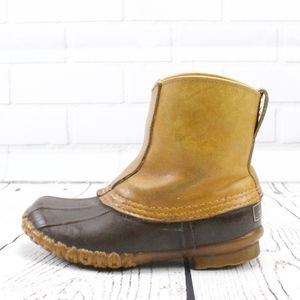 LL Bean Vintage Pull One Duck Boots Size 6